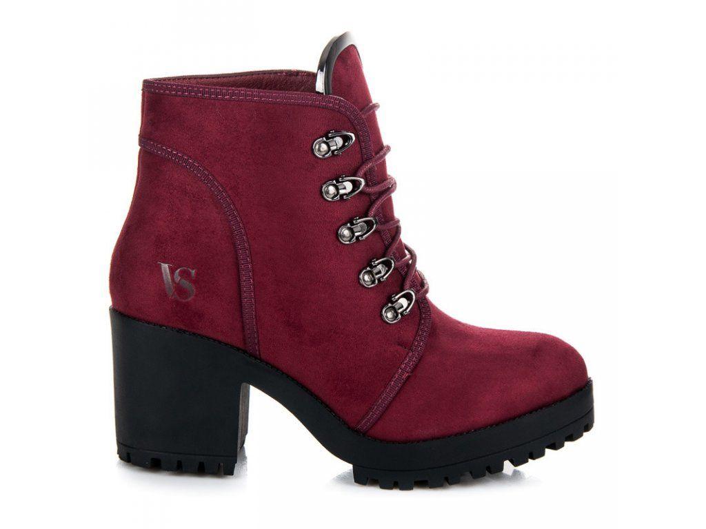 688edec8296f Bordové kotníkové topánky Gita