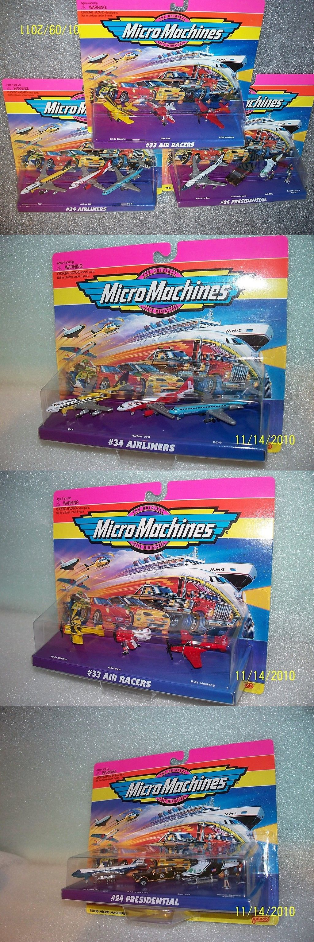 3 sets micro machines nip planes presidential contemporary