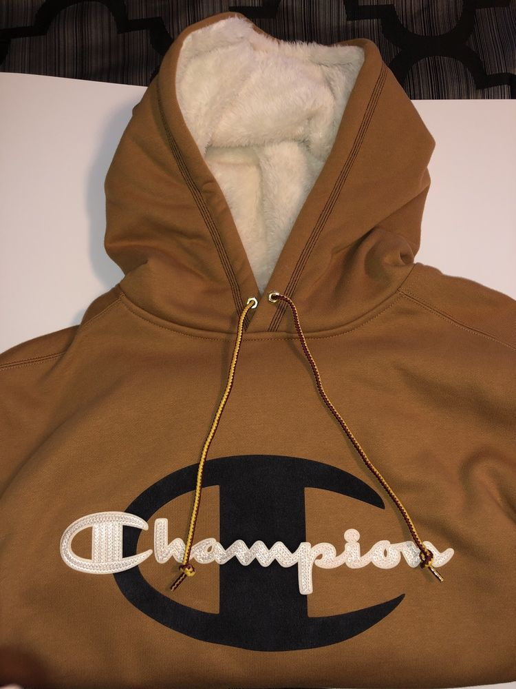 48c96e561ef Champion x Timberland Hooded Sweat Shirt Brown Complex Con KITH Supreme   fashion  clothing  shoes  accessories  mensclothing  activewear (ebay link)