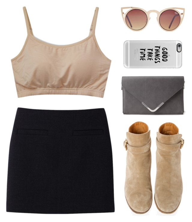"""""""PATIENCE"""" by cigerett ❤ liked on Polyvore featuring Casetify, Uniqlo, Quay, Church's and Forever 21"""
