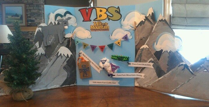 3d Mountain Decor Vbs | VBS Display To Advertise This Years Tell It On The  Mountain