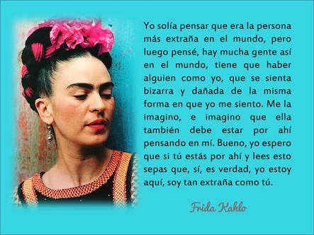 Así que lo que importa no es la belleza, sino el interior ya lo dijo Frida #FrasesqueInpiran #FrasesdeFridaKahlo