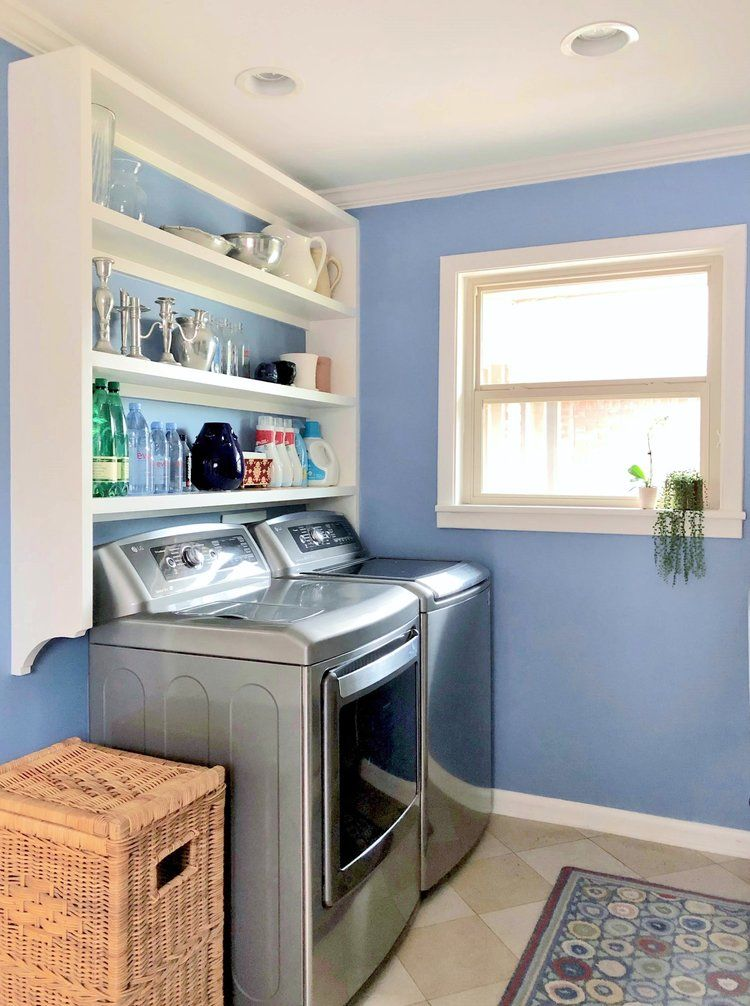 A Pretty Laundry Room In Periwinkle Blue Blue Laundry Rooms