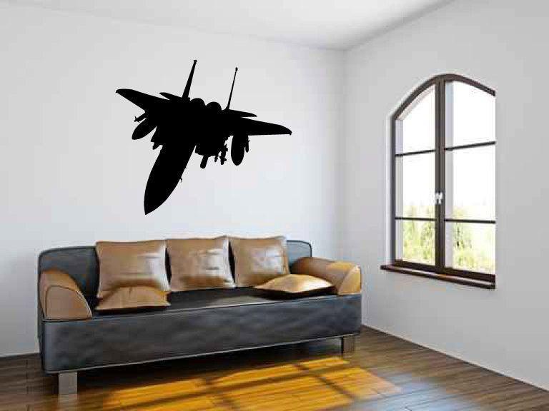 F 15 Military Fighter Jet Airplane Vinyl Wall Decal Sticker Graphic Vinyl Wall Decals Wall Decal Sticker Kid Room Decor
