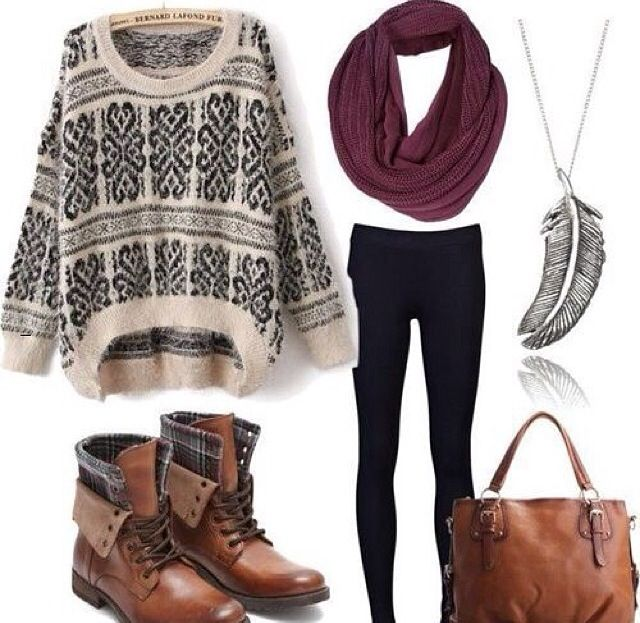 I've posted this kind of outfits countless times, but I just love it so much! Just in case you didn't know. I love fall and winter fashion