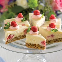 Miniature Raspberry Cheesecakes
