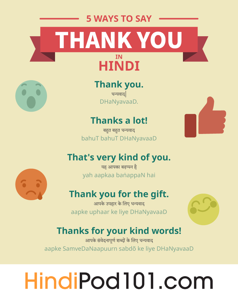 5 Ways To Say Thank You In Hindi Japanese Language Japanese Language Learning Japanese Language Lessons