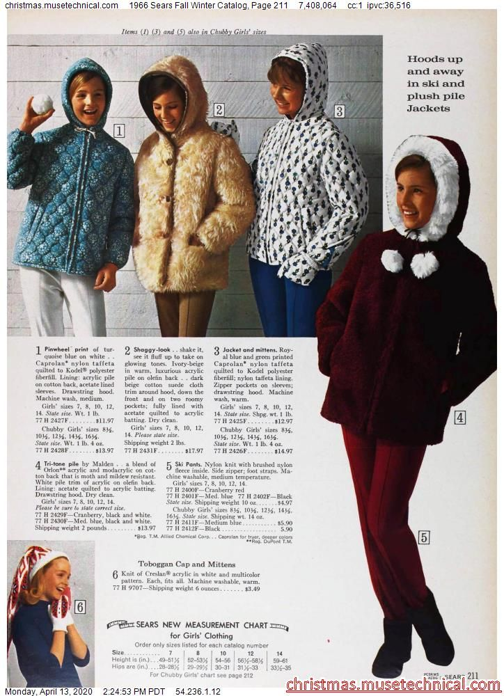 1966 Sears Fall Winter Catalog, Page 211 - Christm