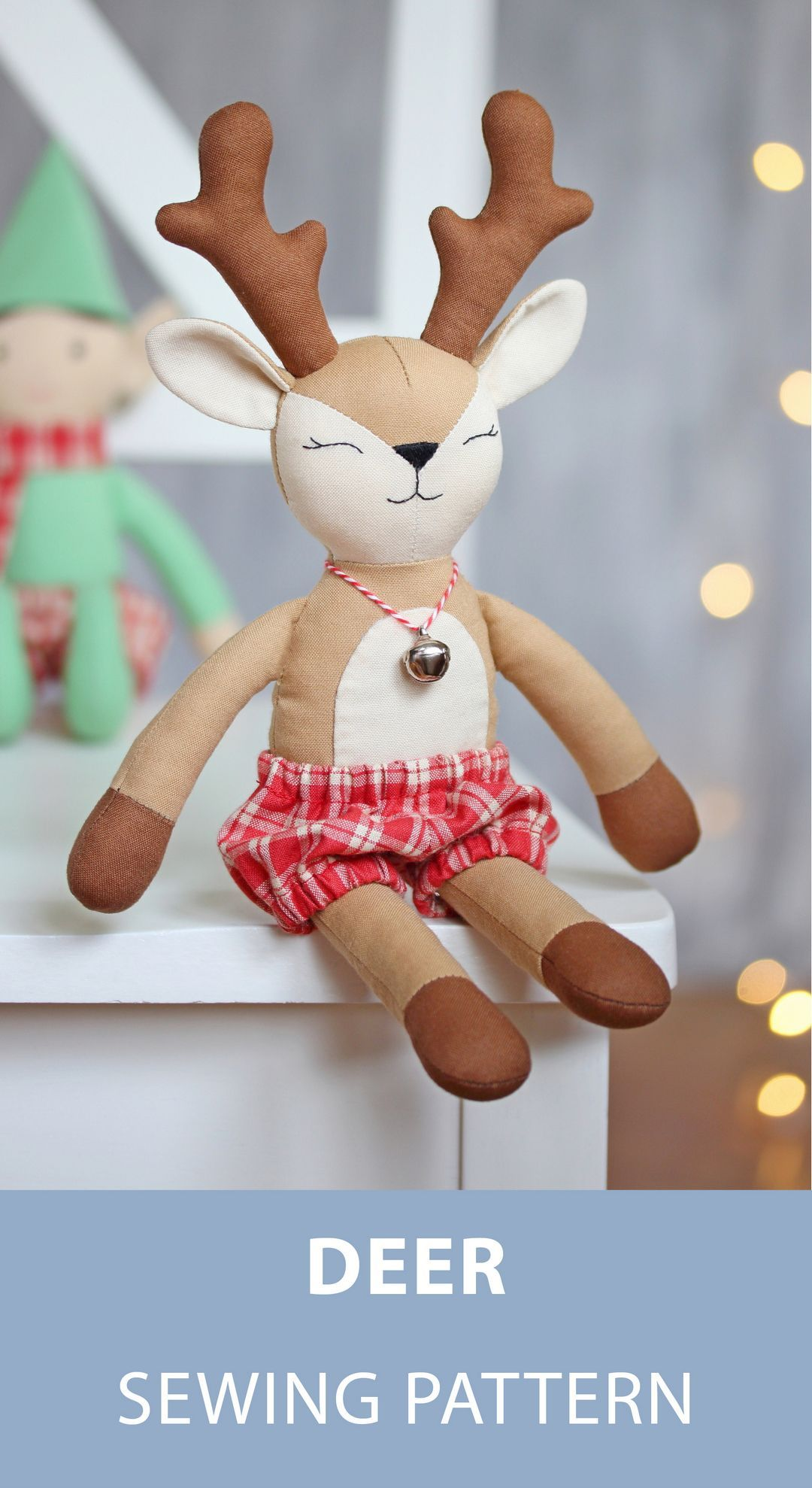 26 Amazing Image Of Reindeer Sewing Pattern Diy Rag Dolls
