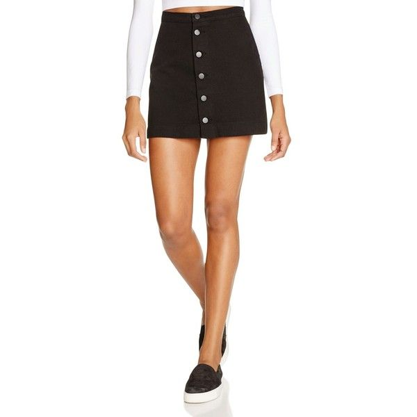 American Apparel Button Front Denim Skirt (93 AUD) ❤ liked on ...