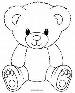 Printable Teddy Bear Coloring Pages For Kids | Cool2bKids #babyteddybear