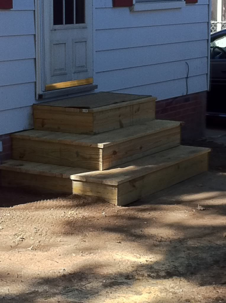 Steps To Patio Back Door | We Recently Finished The Steps And Deck Above.  The Decking Is Fiberon ... | 700 Davenport | Pinterest | Patios, Decking  And Doors