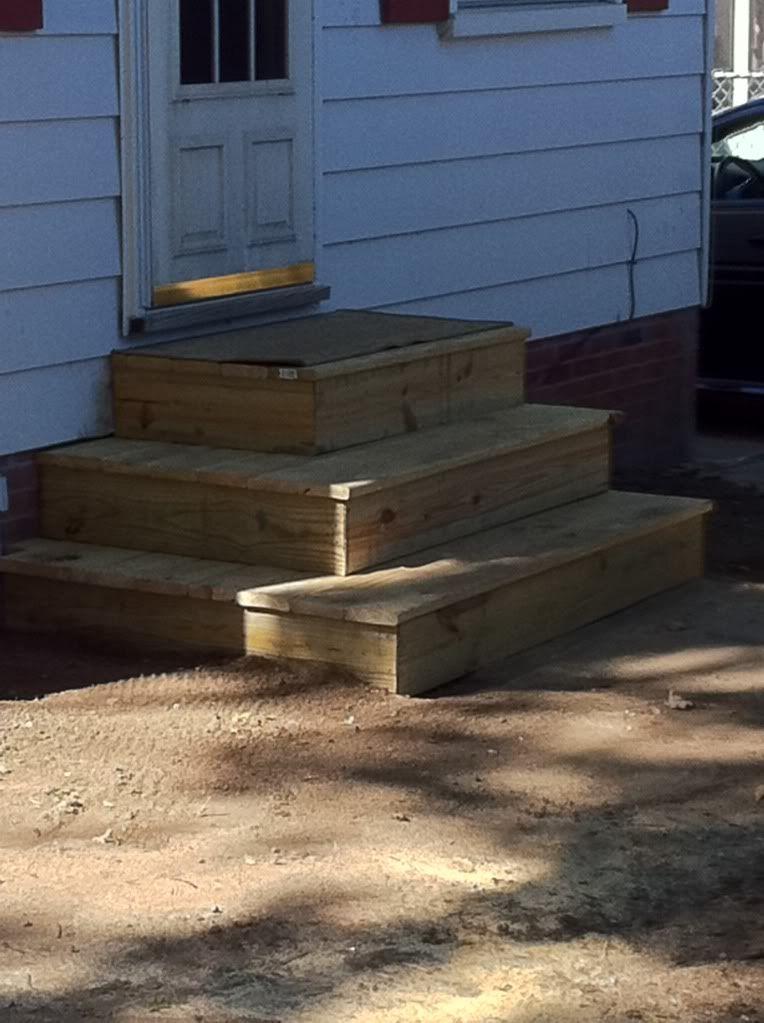 Back Door Steps | Patio steps, Patio stairs, Back doors on Backdoor Patio Ideas id=45100