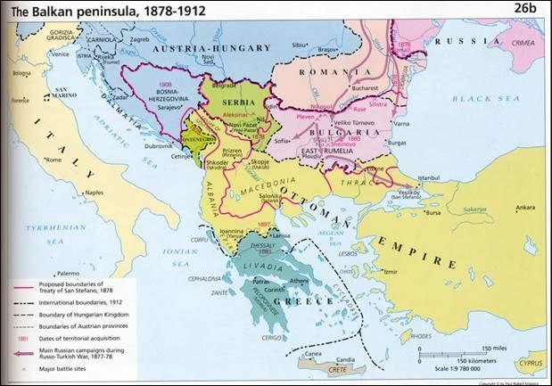 Karta Balkana 1878.Balkans 1878 1912 Maps