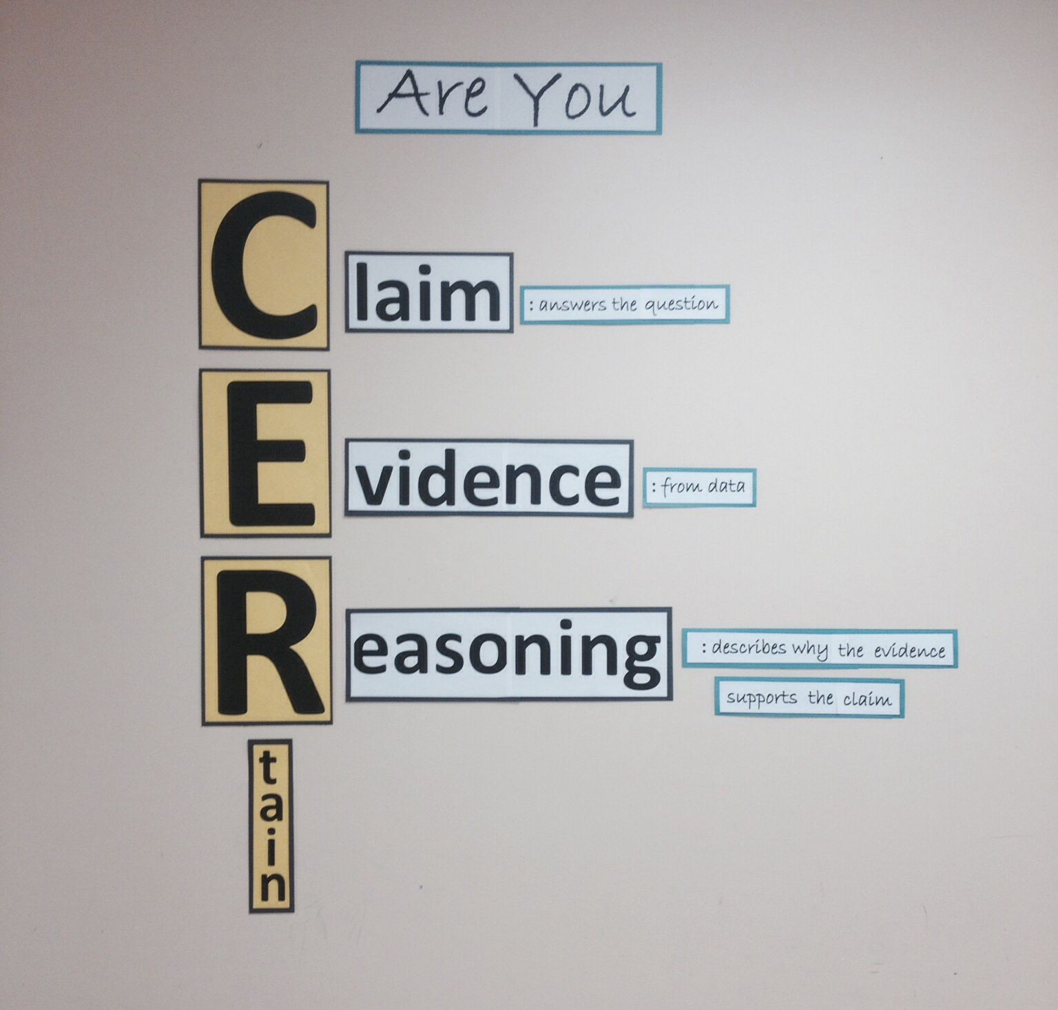 claim evidence reasoning foldable and activity for interactive iqwst cer claim evidence reasoning display in classroom
