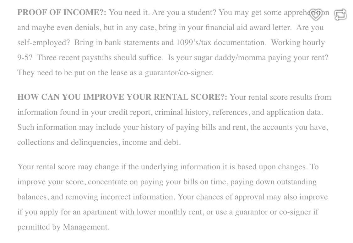 Getting An Apartment Denial Bank Statement Financial Aid