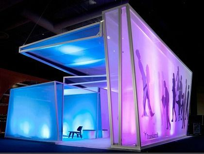 Fabric Exhibition Stand Lighting : Tension fabric room creative decor ideas exhibition stand