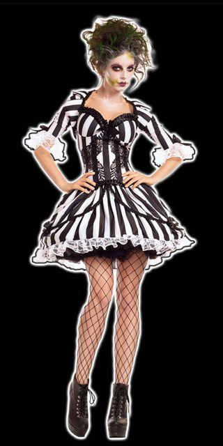 Miss Beetlejuice Costume Halloween with Tim Burton ~~ Halloween - tim burton halloween decorations