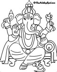 Ganesh Drawing For Kids : ganesh, drawing, Ganesh, Drawings, Sketch, Template, Ganesha, Drawing,, Ganesha,, Children