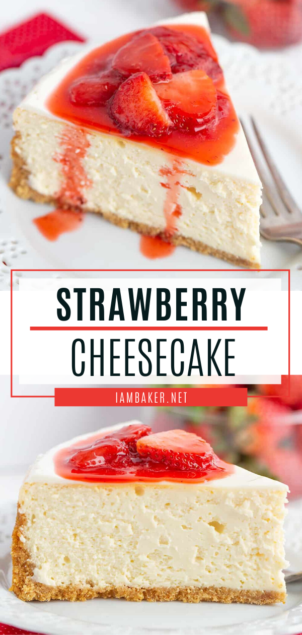 Strawberry Cheesecake In 2020 Strawberry Cheesecake Recipe Easy Cheesecake Recipe Without Sour Cream Easy Strawberry Cheesecake