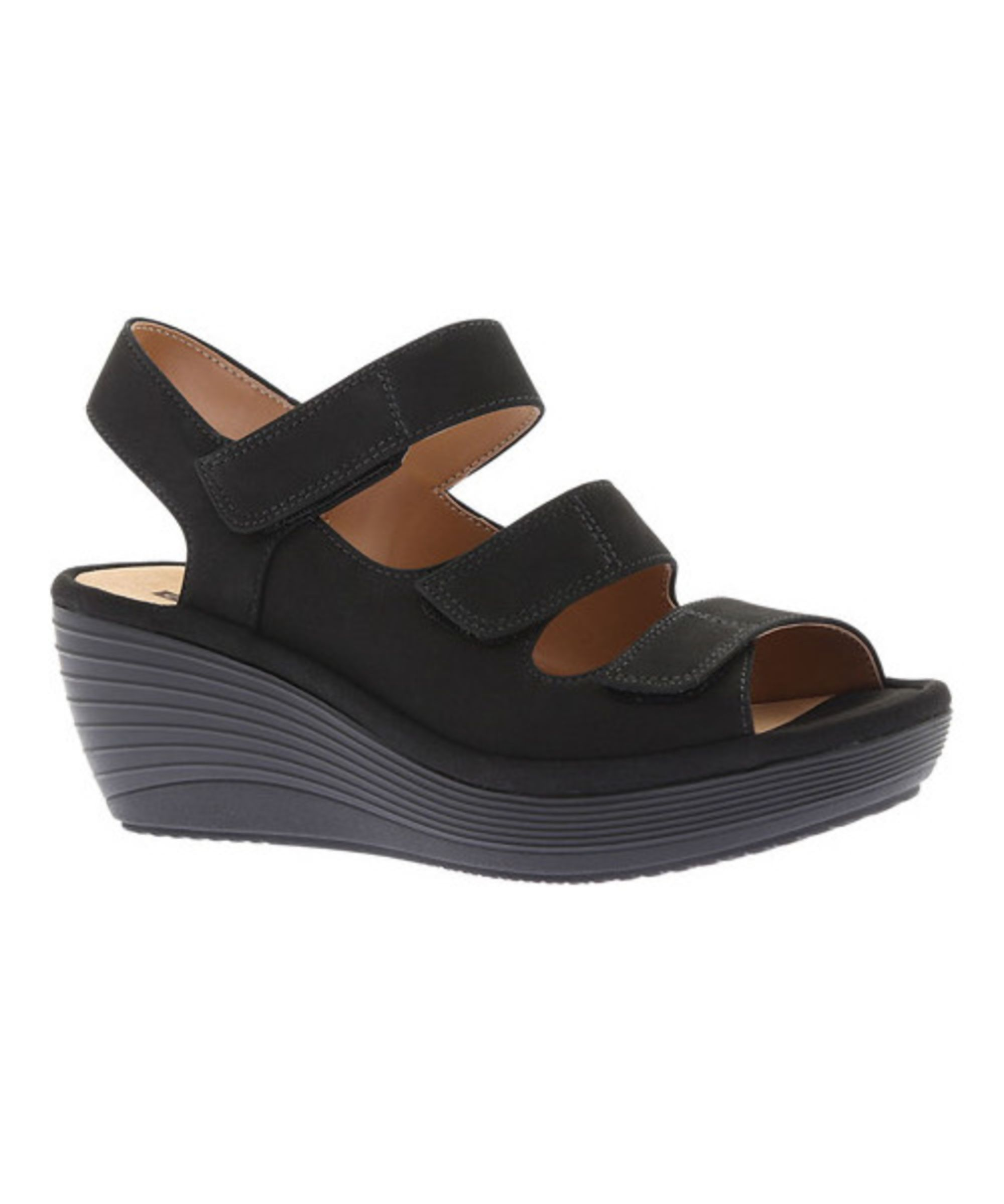 CLARKS | Clarks Women's Reedly Juno Wedge Sandal #Shoes #Sandals #CLARKS