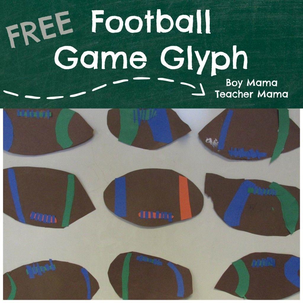 Teacher Mama Football Game Glyph For Kids