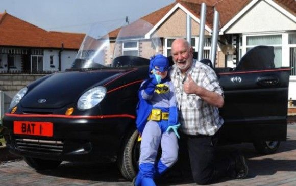 Grandpa of the year converts his old car into the Bat Mobile