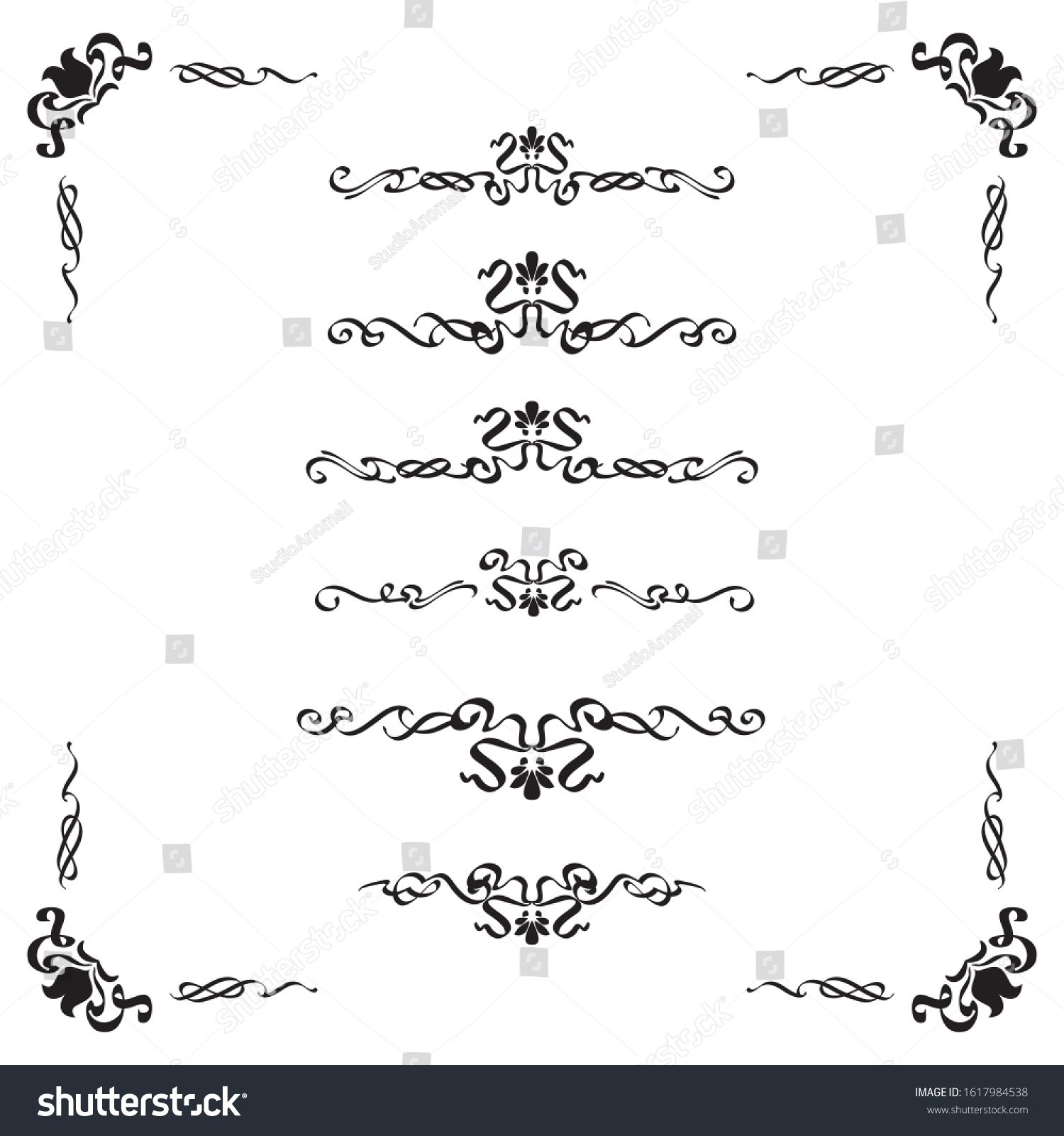 Classic Ornament Frame Vintage Border Art Stock Vector Royalty Free 1617984538 In 2020 Vintage Borders Ornament Frame Chinese Patterns