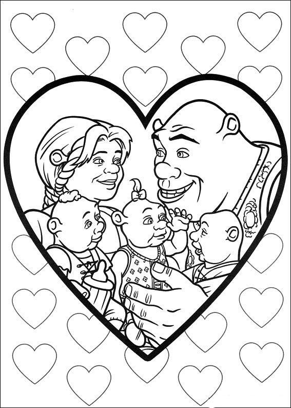 Dibujos para Colorear Shrek 134 | Adult coloring | Pinterest | Shrek ...