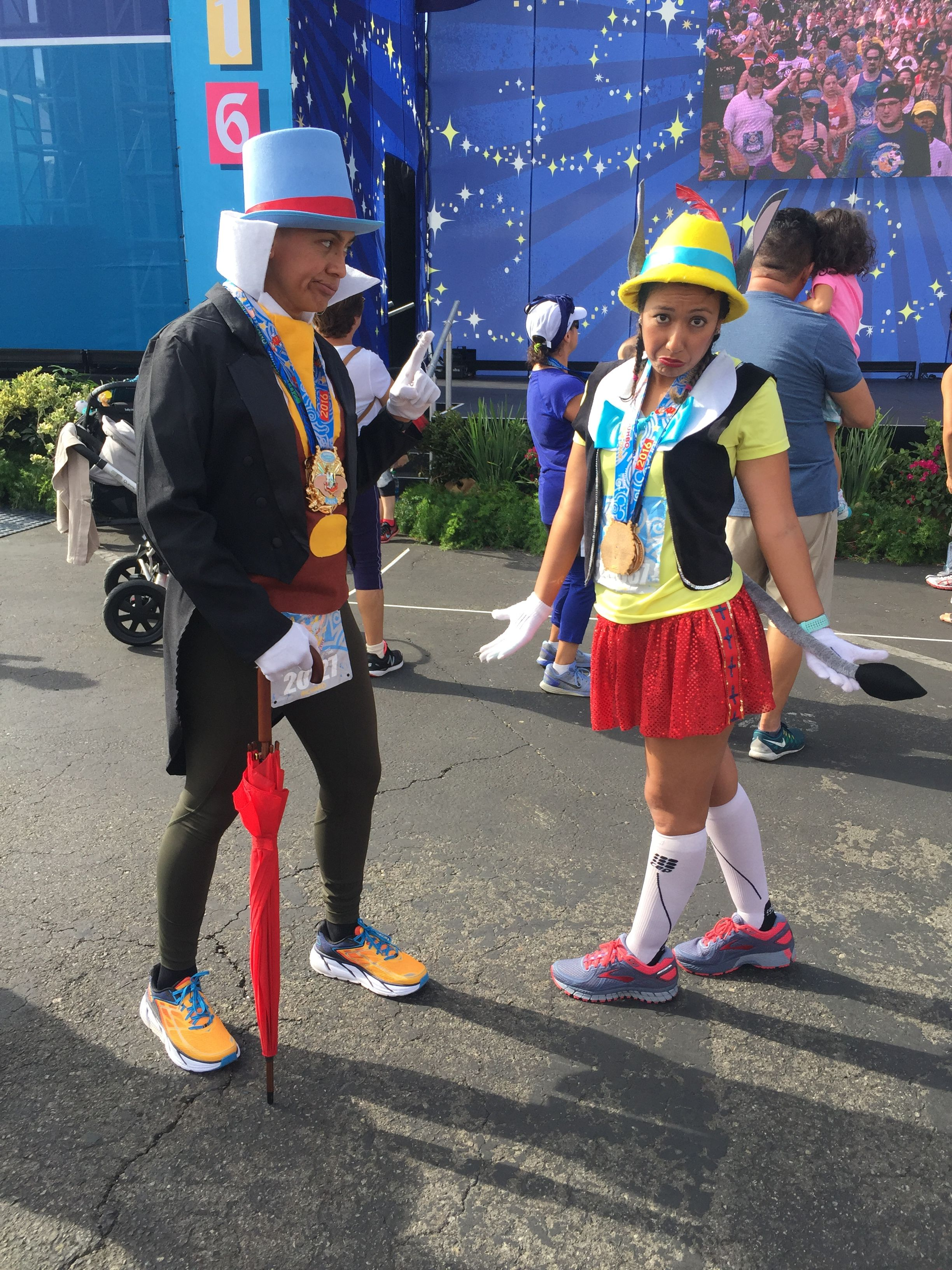 Pleasure Island Pinocchio And Jiminy Cricket Disneyland Half 2016 Disney Bound Outfits Disney Fancy Dress Running Costumes
