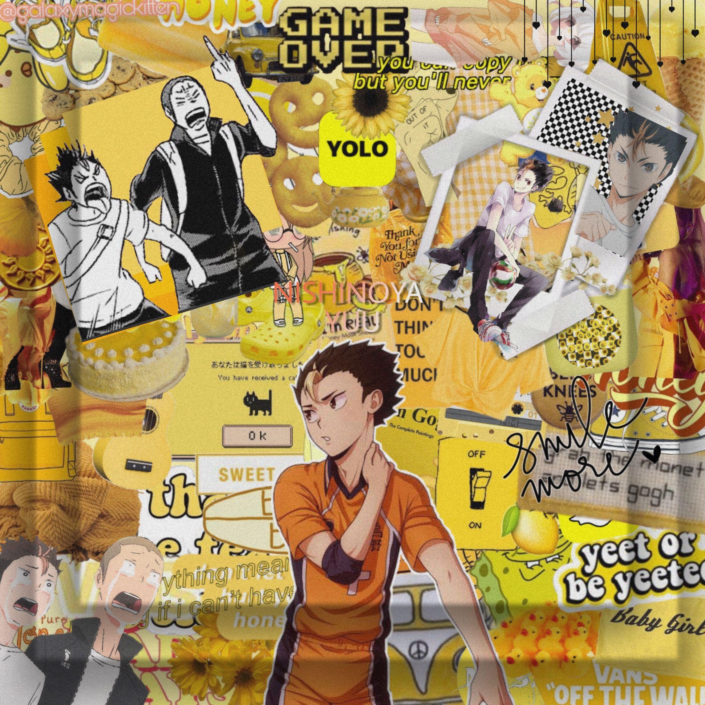Nishinoya Freetoedit Nishinoya Yuunishinoya Haikyuu Haikyuu Haikyuuedit Haikyuunishinoya Yellow Yellowaesthe In 2020 Haikyuu Nishinoya Nishinoya Haikyuu