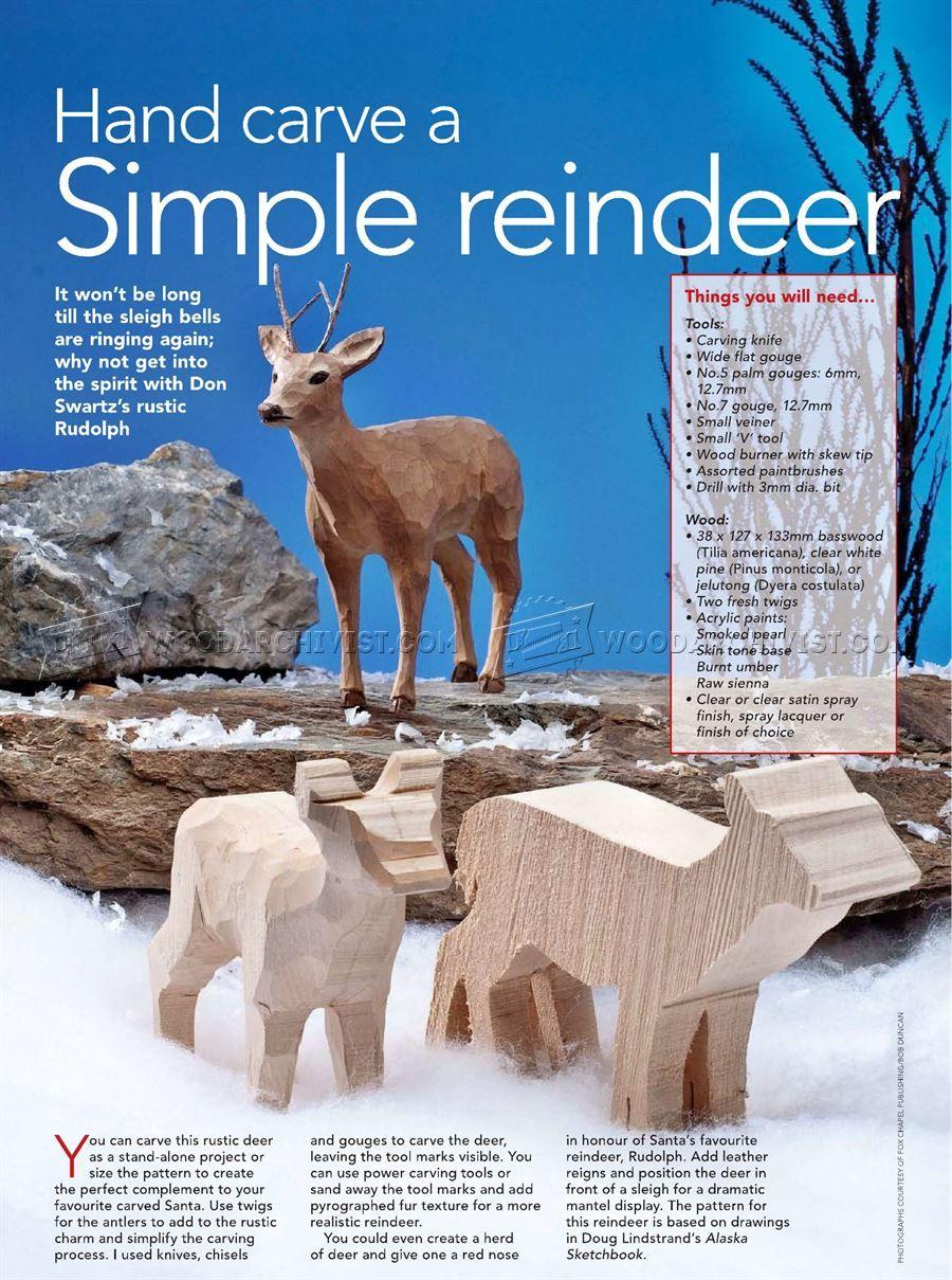 reindeer carving wood carving patterns wood carving more
