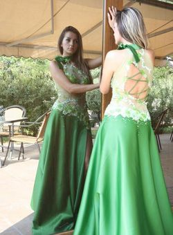 green apple bridesmaid dresses | Apple green bridesmaid dress ...