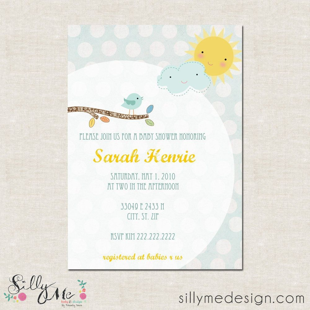 Spring baby shower invitation | Baby Shower | Pinterest | Custom ...