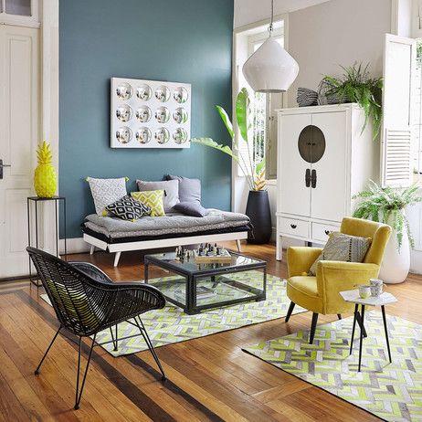lit banquette 90 x 190 cm en bois blanc sixties maisons du monde pour le 33 en 2019. Black Bedroom Furniture Sets. Home Design Ideas