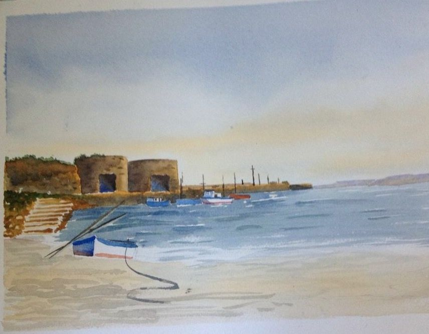 Watercolour Painted at a Charlie Evans class In Northumbria.