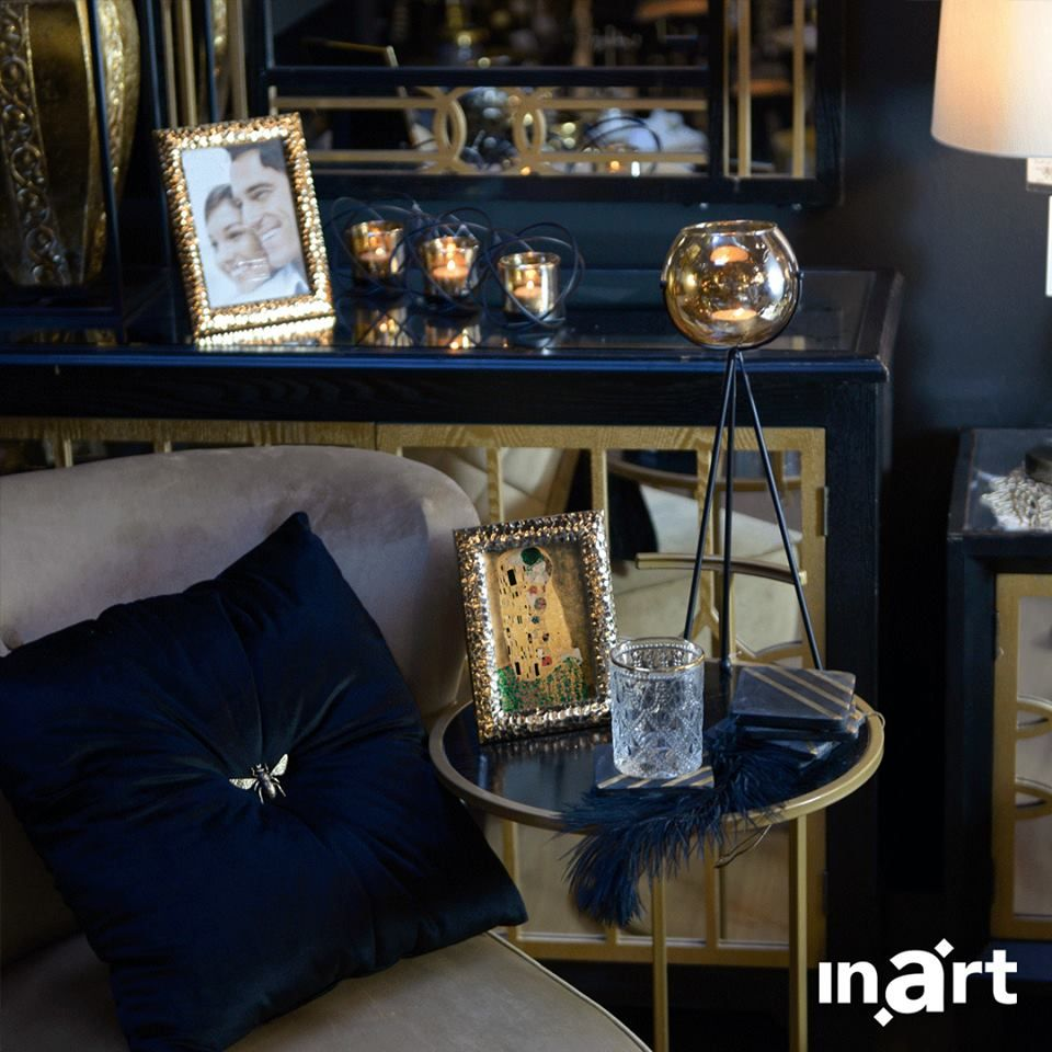 Home Interiordecoration: Navy Blue With A Touch Of Gold, Simply Called #inartLiving