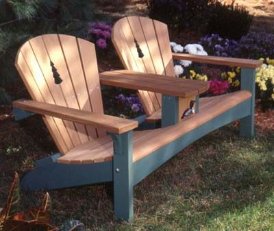 Double Settee Patio Chair Woodworking Plan Outdoor