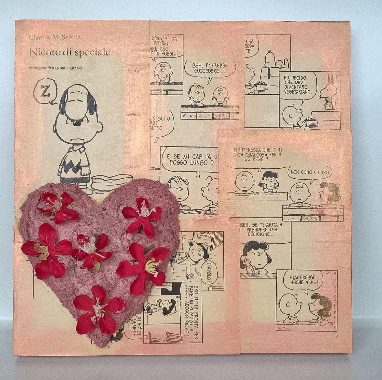 Quadro decorativo cuore decorazione Amore Fiorito Flowered Love di Manoico su Etsy