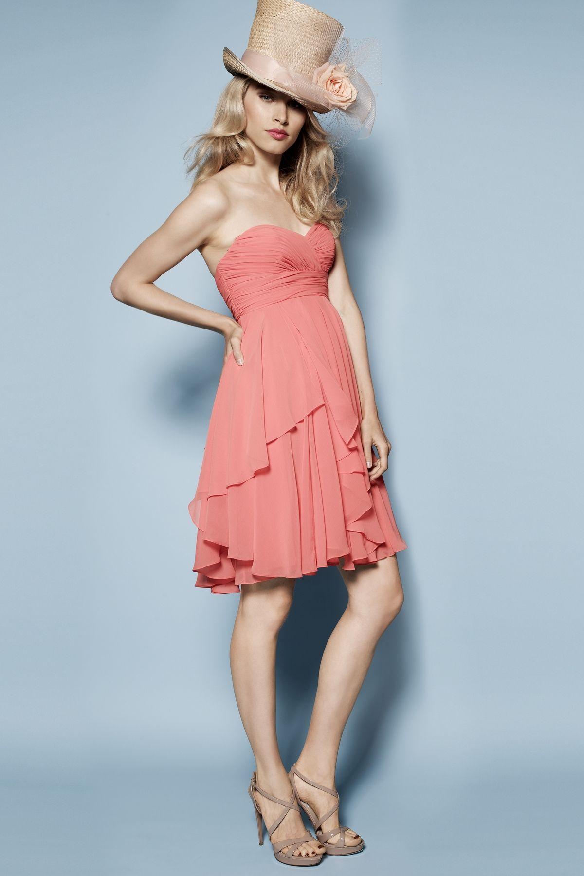 Watters Juniper Style 3535 in CORAL | Wedding :: Bridesmaid Dresses ...