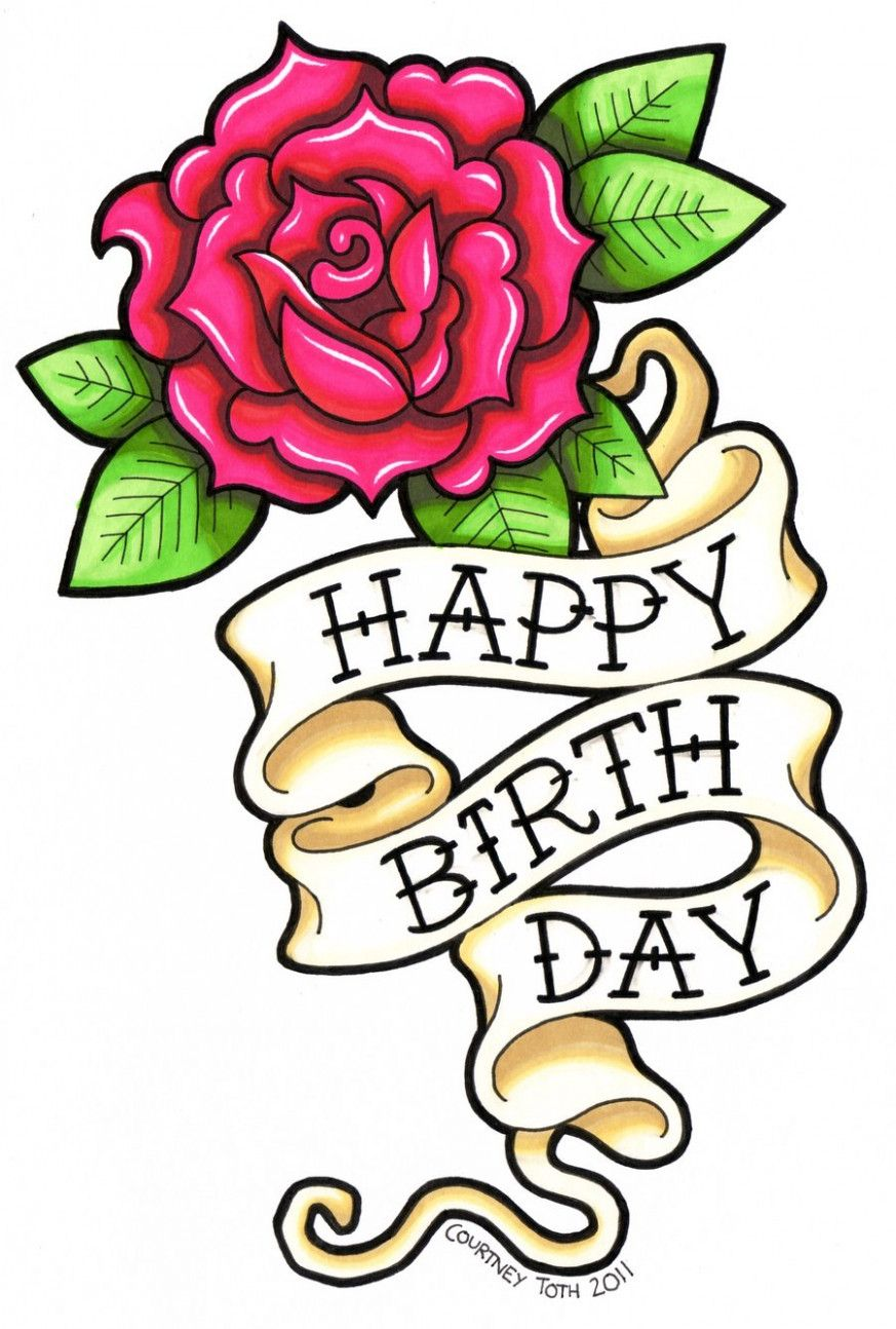 Happy Birthday Drawings For Card Happy Birthday Drawings Birthday Card Drawing Happy Birthday Tattoo