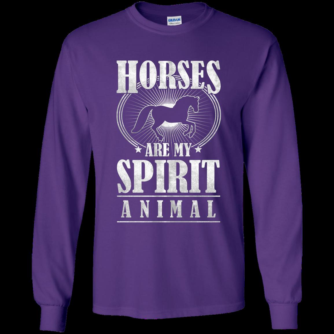 Horses Are My Spirit Animal Horse T Shirt Cotton tshirt