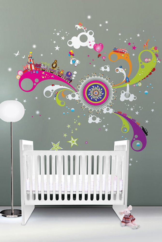baby room ideas eleven neat decorative nursery space interior wall stickers design - Baby Wall Designs