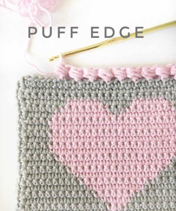 Crochet Puff Edge Stitch | This sweet little edge finishes off a ...