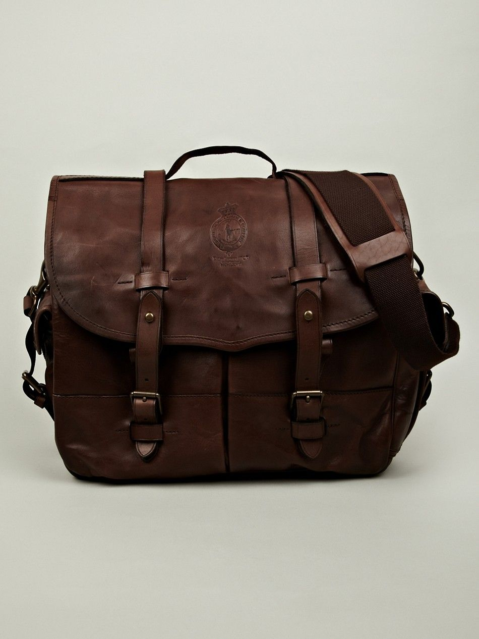Polo Ralph Lauren Men s Messenger Bag in tan at oki-ni  66a0932364b1d