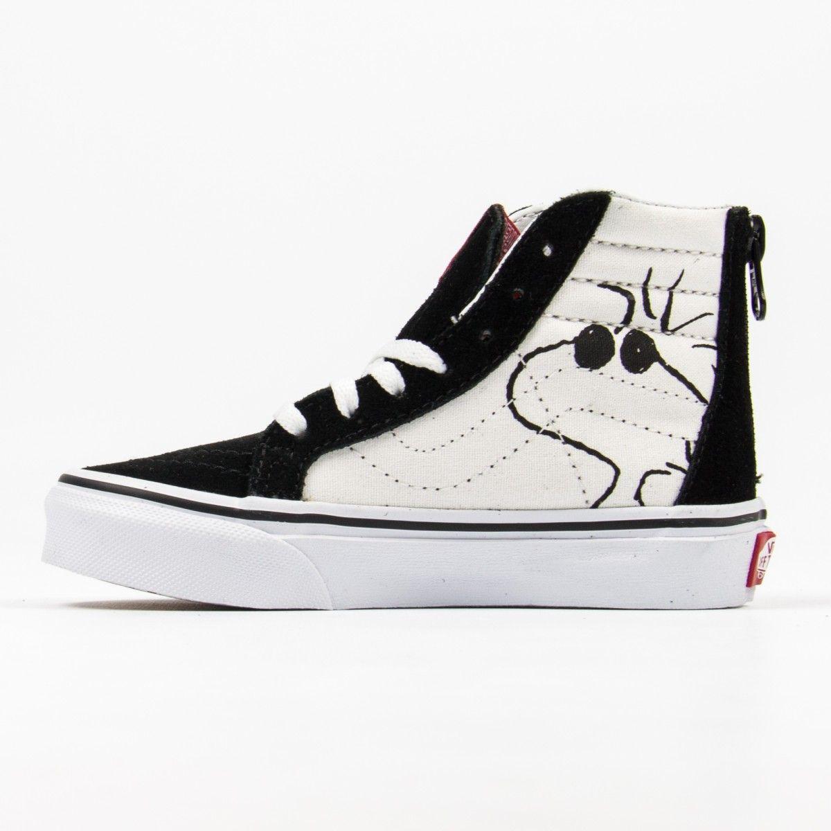 """c4e8d99cd678 Vans """"Joe Cool SK8-Hi Zip"""" schwarze Sneakers mit Snoopy-Print ..."""