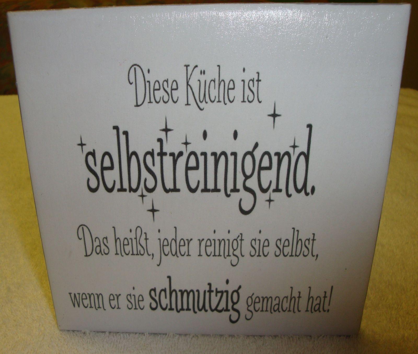 evtl über Transfer Wandbild-Keramikfliese-mit Spruch,Küche | eBay ...