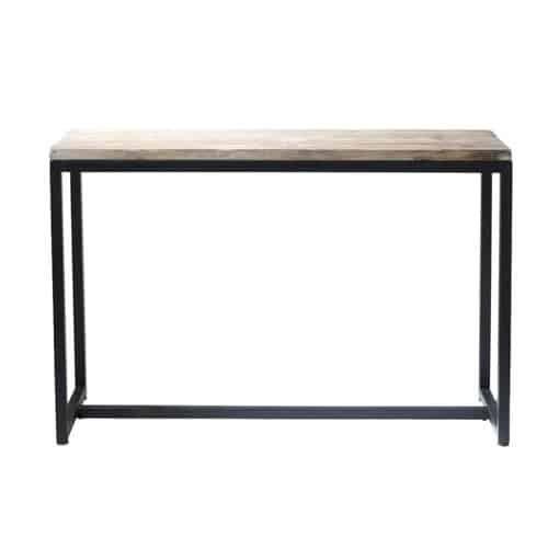 konsolentisch im industrial stil aus massivem tannenholz und metall gewei t home pinterest. Black Bedroom Furniture Sets. Home Design Ideas