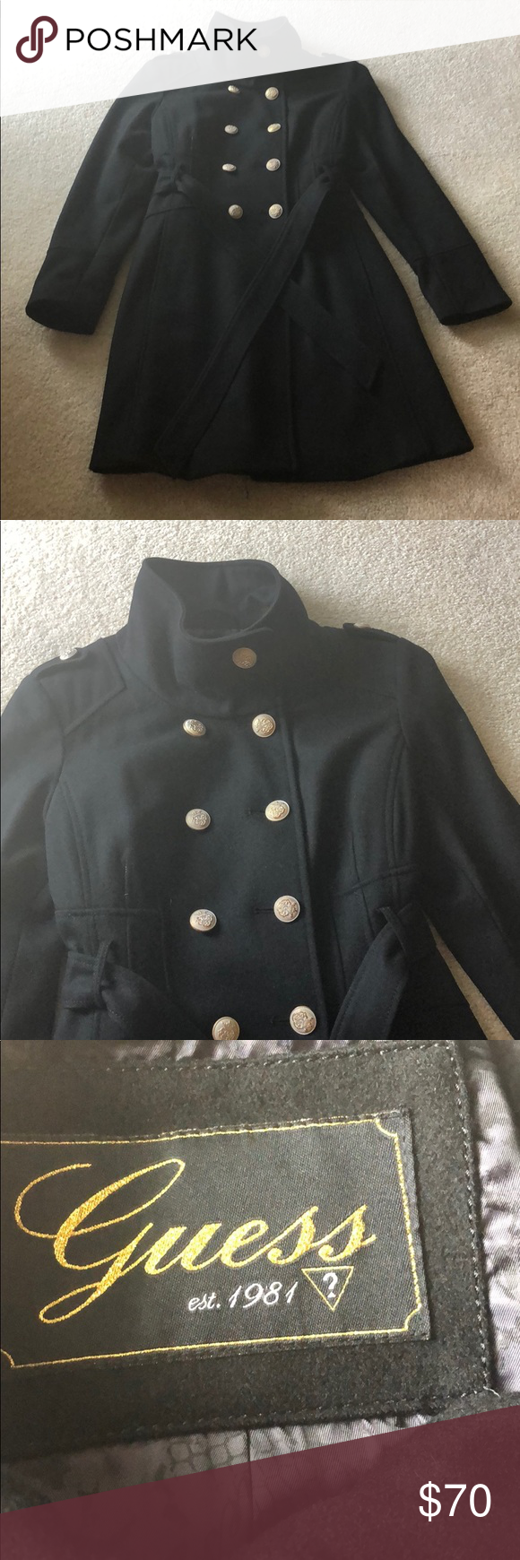 Guess 3/4 length pea coat