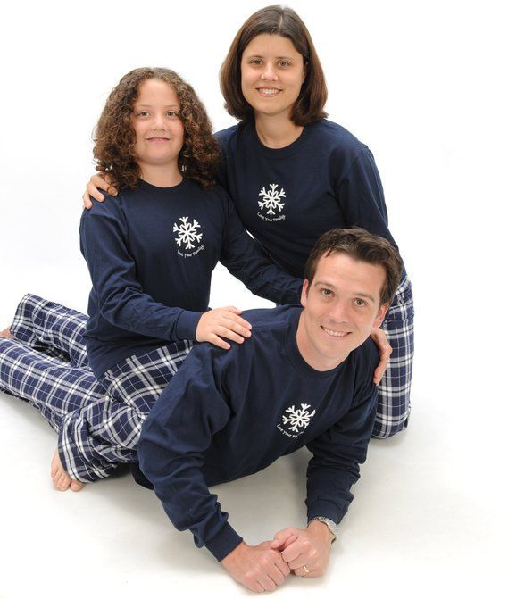 Winter Snowflake Family Holiday Winter Pajama Outfits, Matching